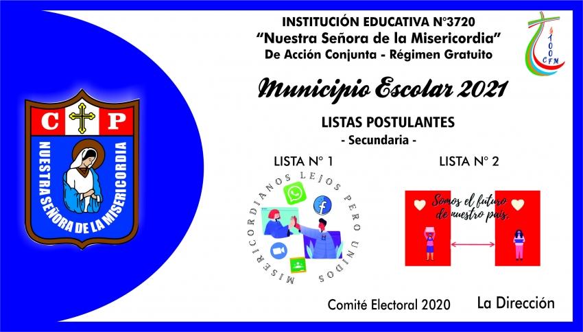 LISTAS POSTULANTES A MUNICIPIO ESCOLAR 2021