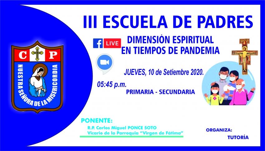III ESCUELA DE PADRES